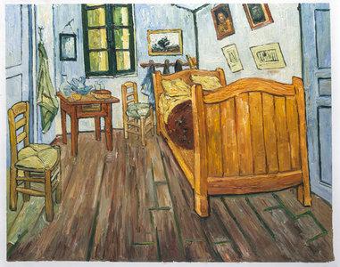 Vincents bedroom in arles van gogh museum oil painting for Bedroom in arles