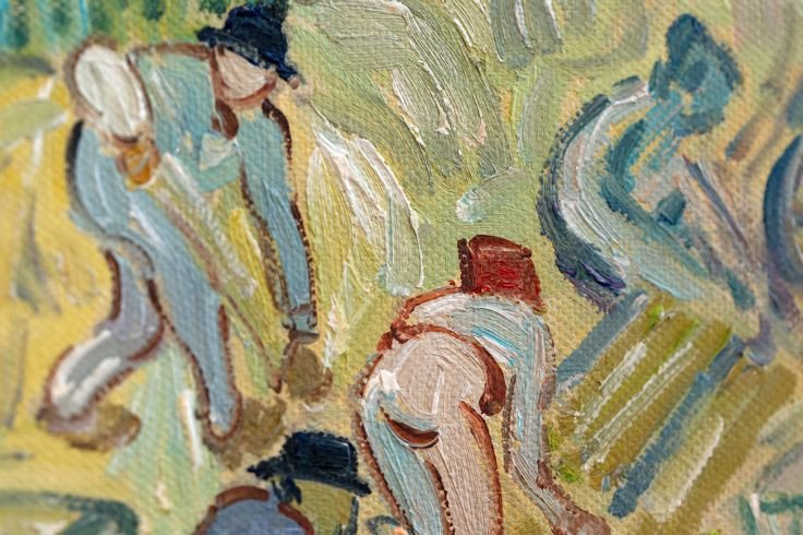Colorful Walkway at Mediterranean Villa Oil Painting