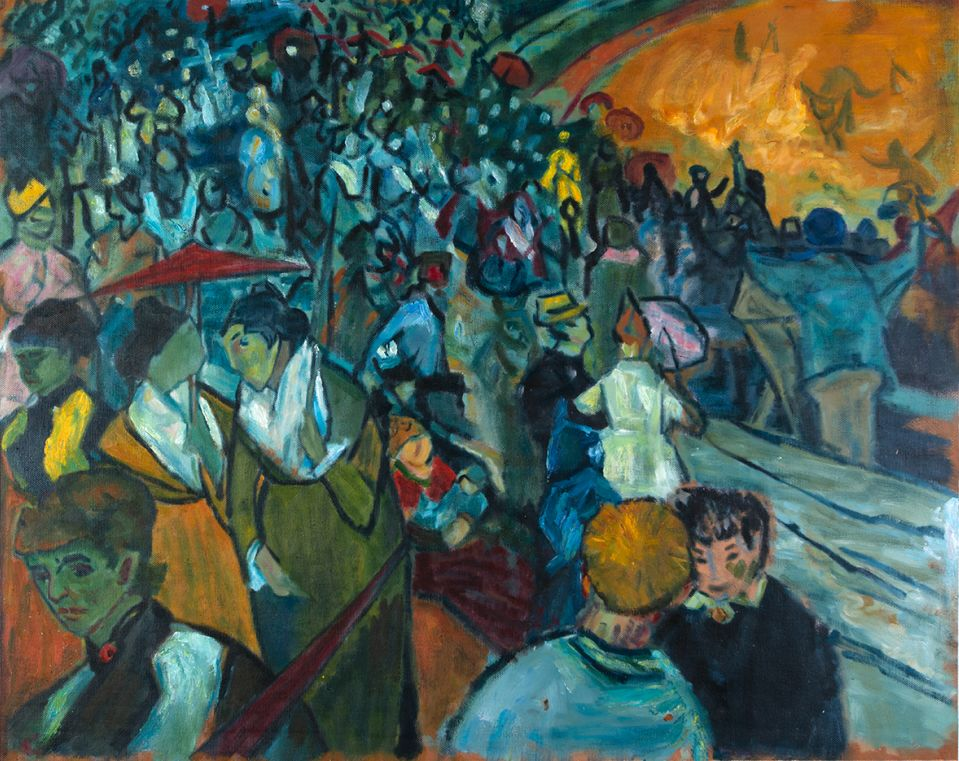 Arena at Arles Van Gogh reproduction