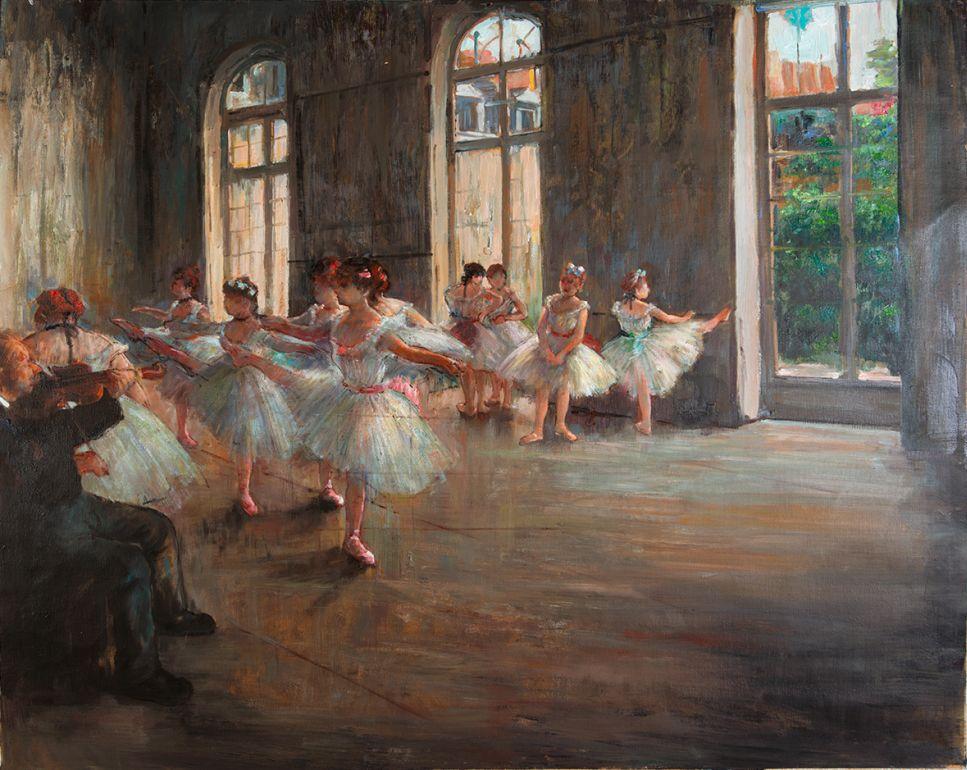 Ballet Rehearsal Degas reproduction