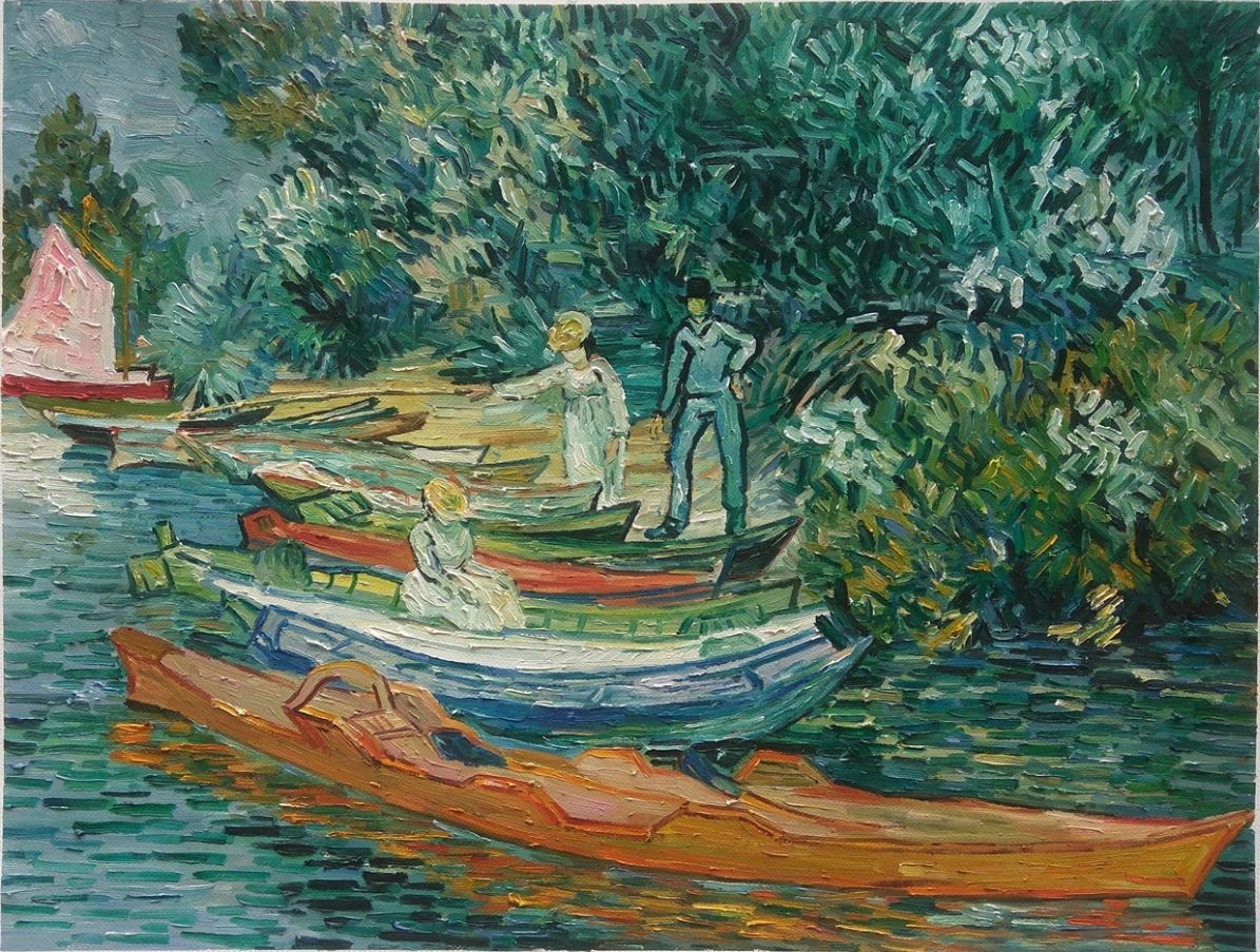 Banks of the Oise at Auvers Van Gogh reproduction