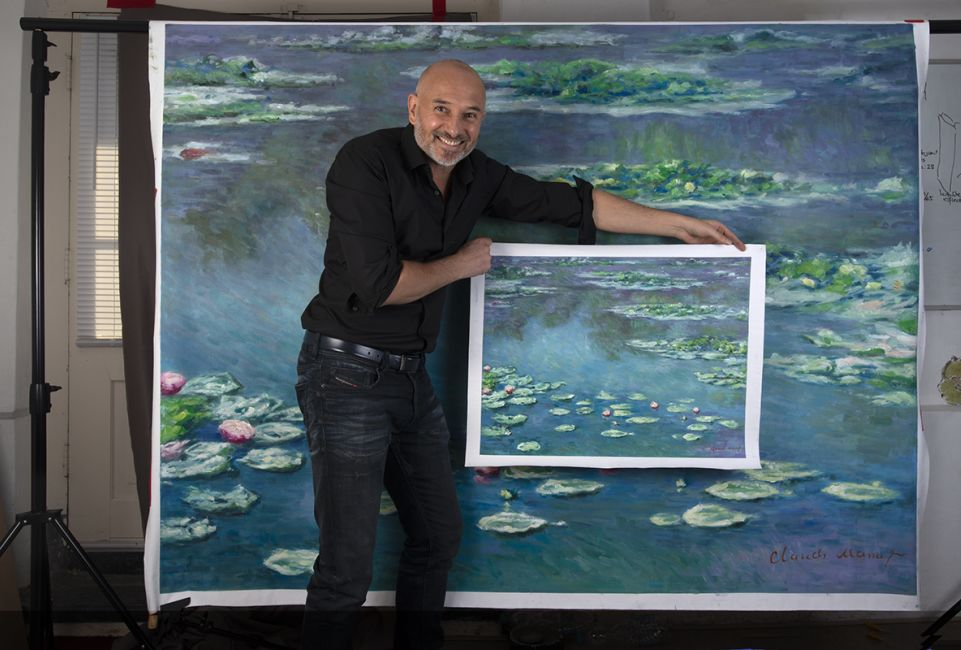 Waterlilies Monet reproduction