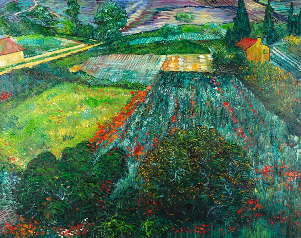 Field with Poppies Van Gogh reproduction