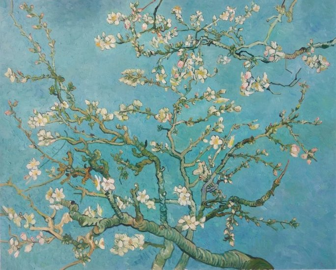 For whom did Vincent van Gogh paint the Blossoming Almond Tree?