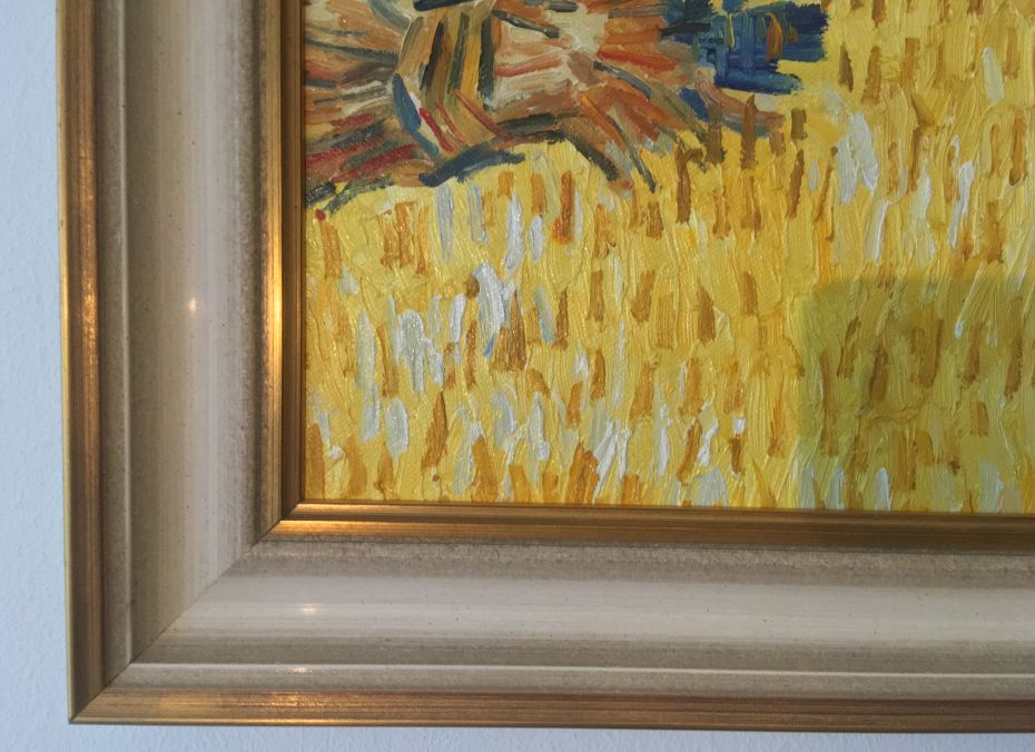 Framed Harvest in Provence Gogh reproduction