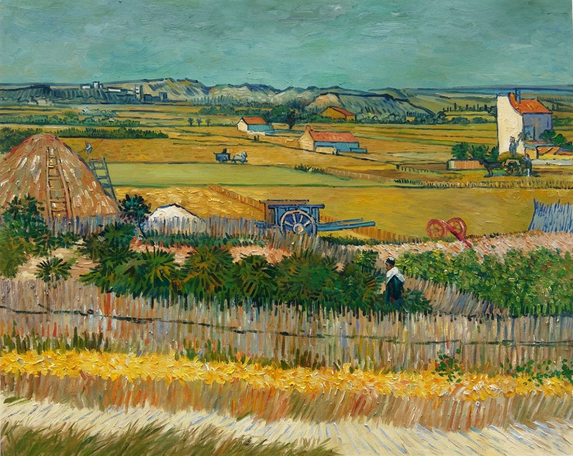 Harvest at La Crau Van Gogh Reproduction