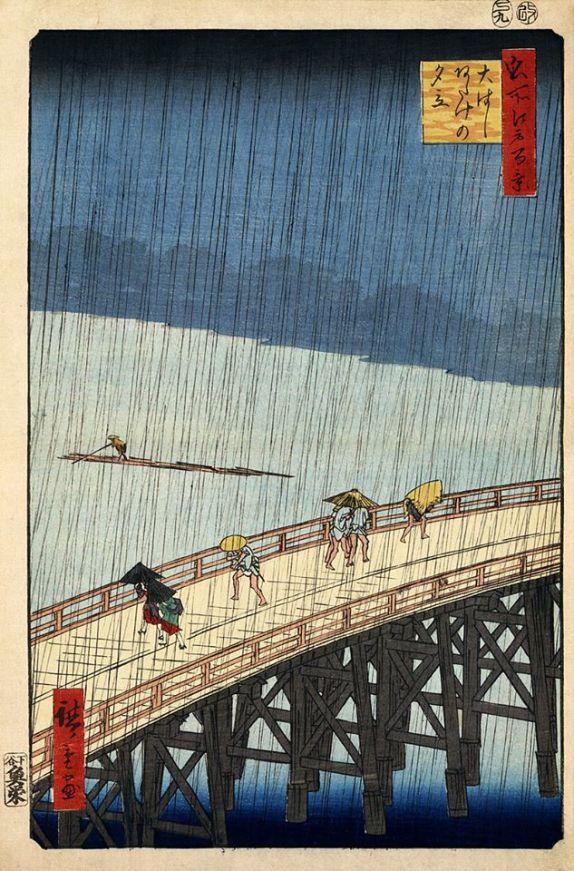 Hiroshige Bridge in the Rain