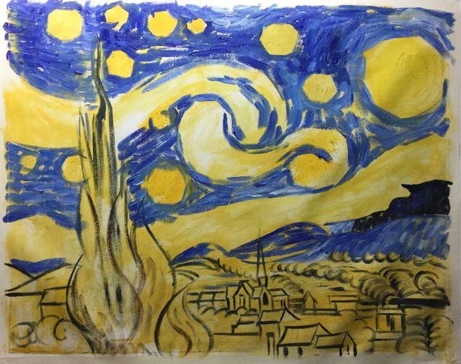 How do you paint Starry Night