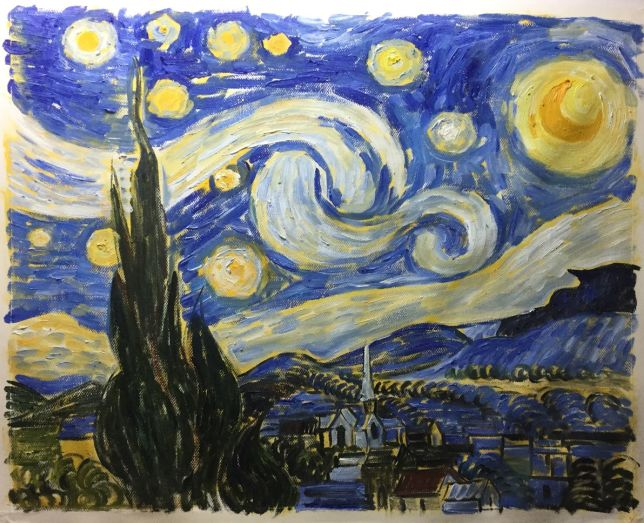 Starry Night painting instruction
