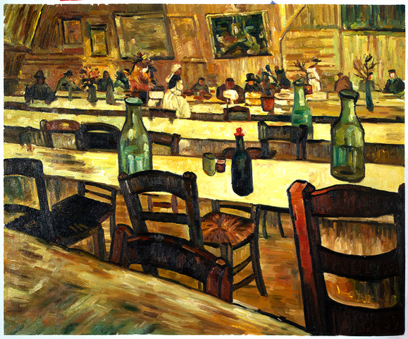 Interior of a Restaurant in Arles Van Gogh Reproduction