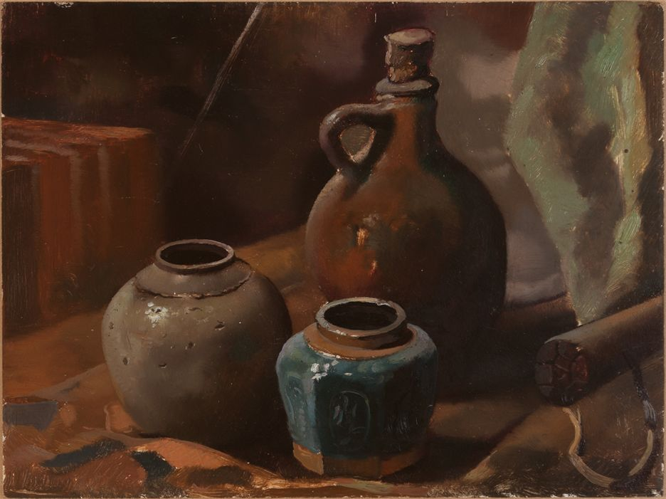 Still Life with Ginger Jar, original by Jo Vergeer