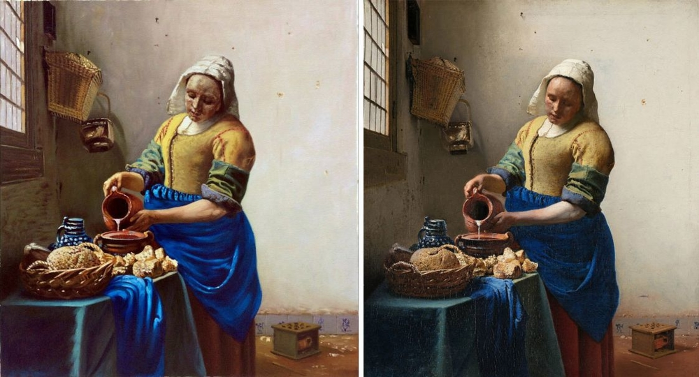 Milkmaid Vermeer reproduction