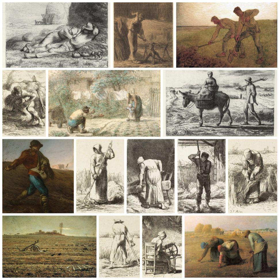 Paintings by Millet that inspired Van Gogh
