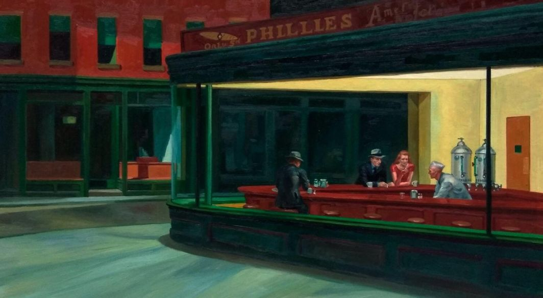 Nighthawks Edward Hopper reproduction