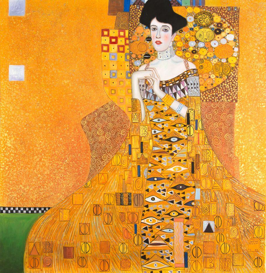 Klimt Portret van Adele Bloch Bauer reproductie