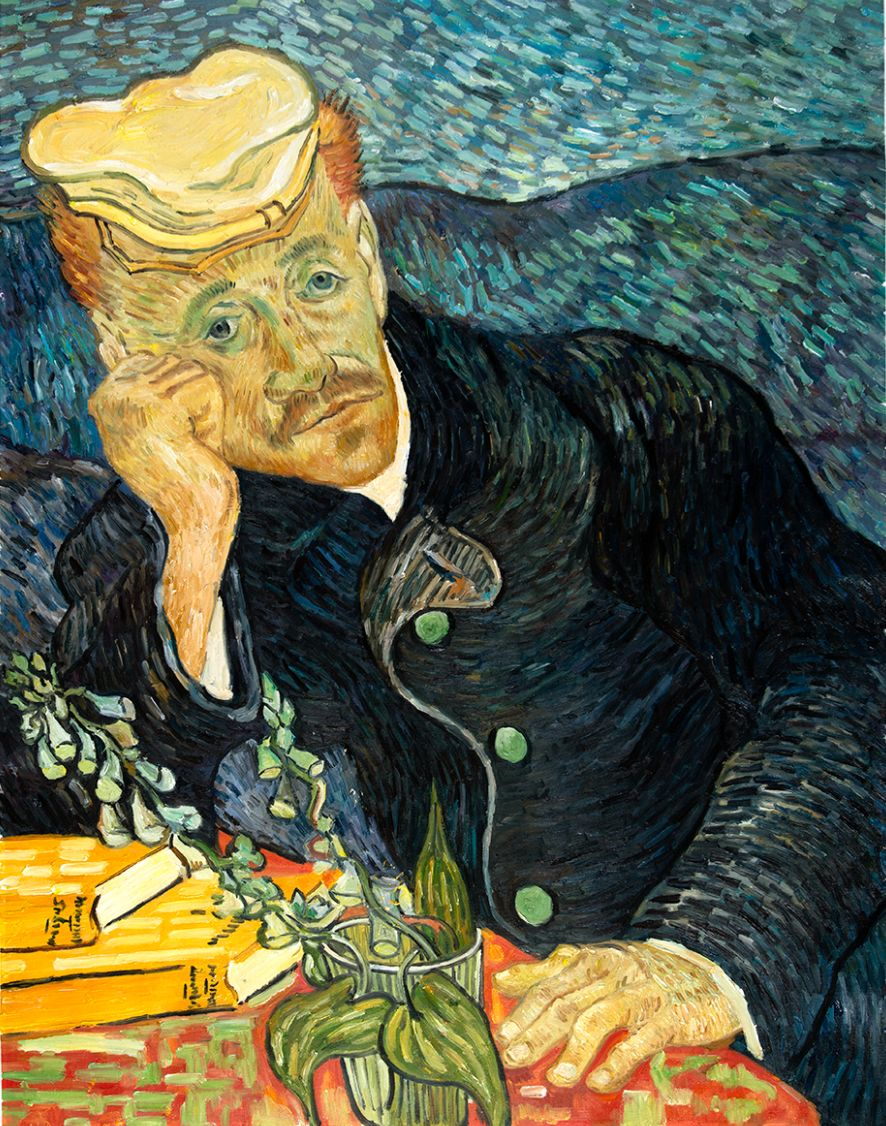 Portret van Dr. Gachet Van Gogh reproductie