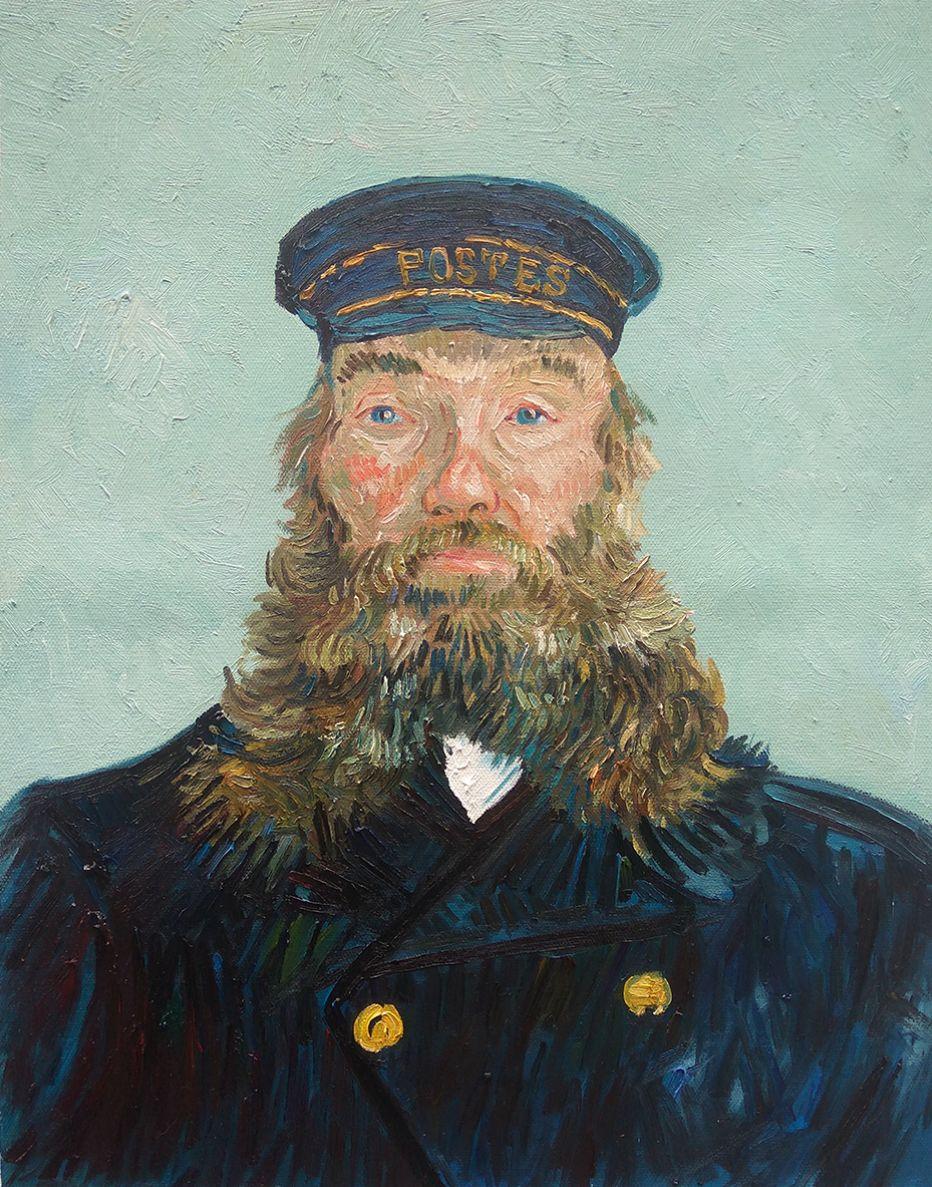 Portret van postbode Joseph Roulin Detroit