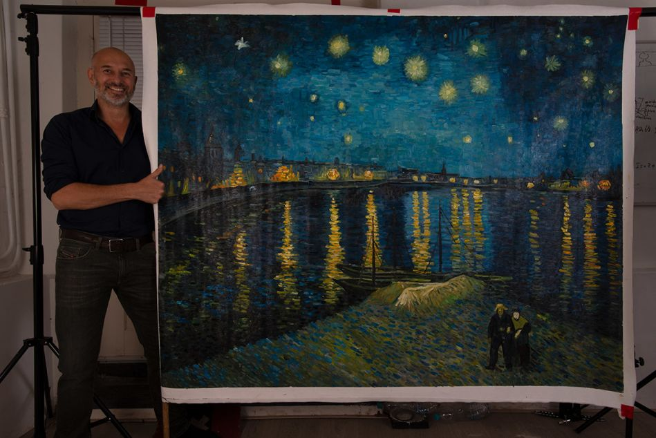 Starry Night over the Rhone large reproduction