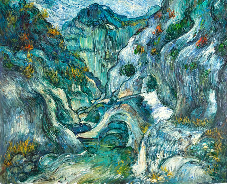 The Ravine of the Peyroulets Van Gogh reproduction