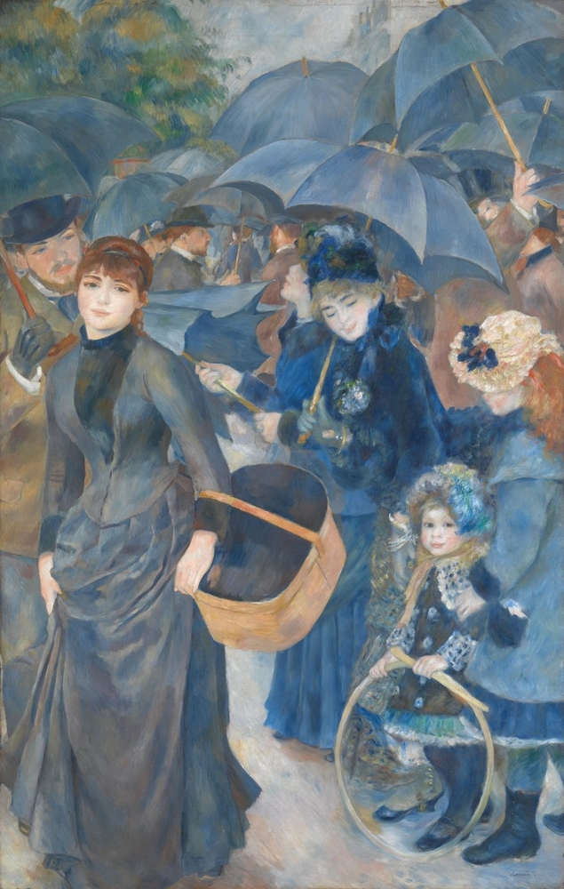 Umbrellas Renoir reproduction