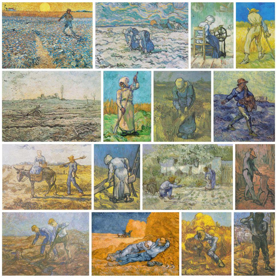 Van Gogh's paintings after Millet
