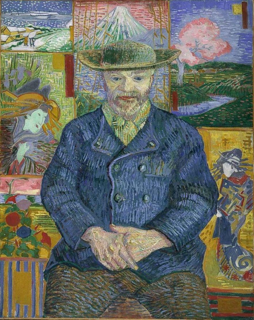 Van Gogh en Pére Tanguy portrait