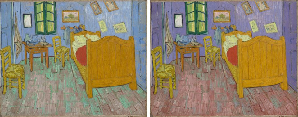 original colors of Van Gogh's bedroom