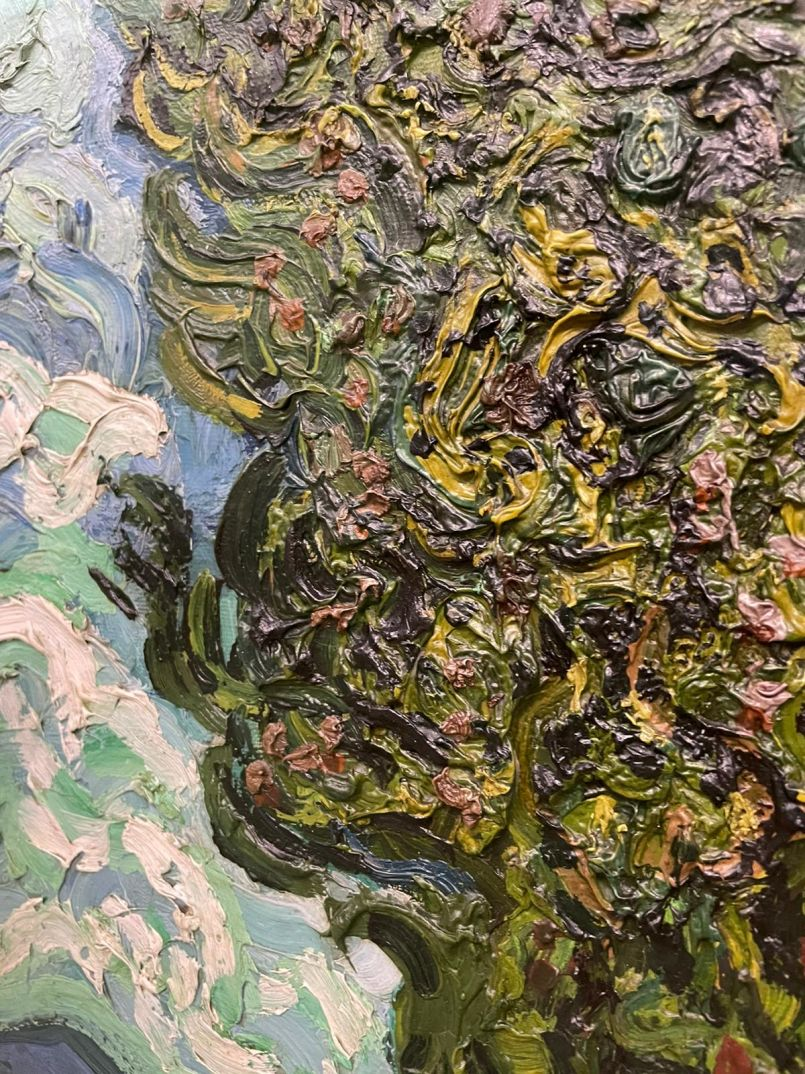 Which of Van Gogh's paintings has the thickest impasto