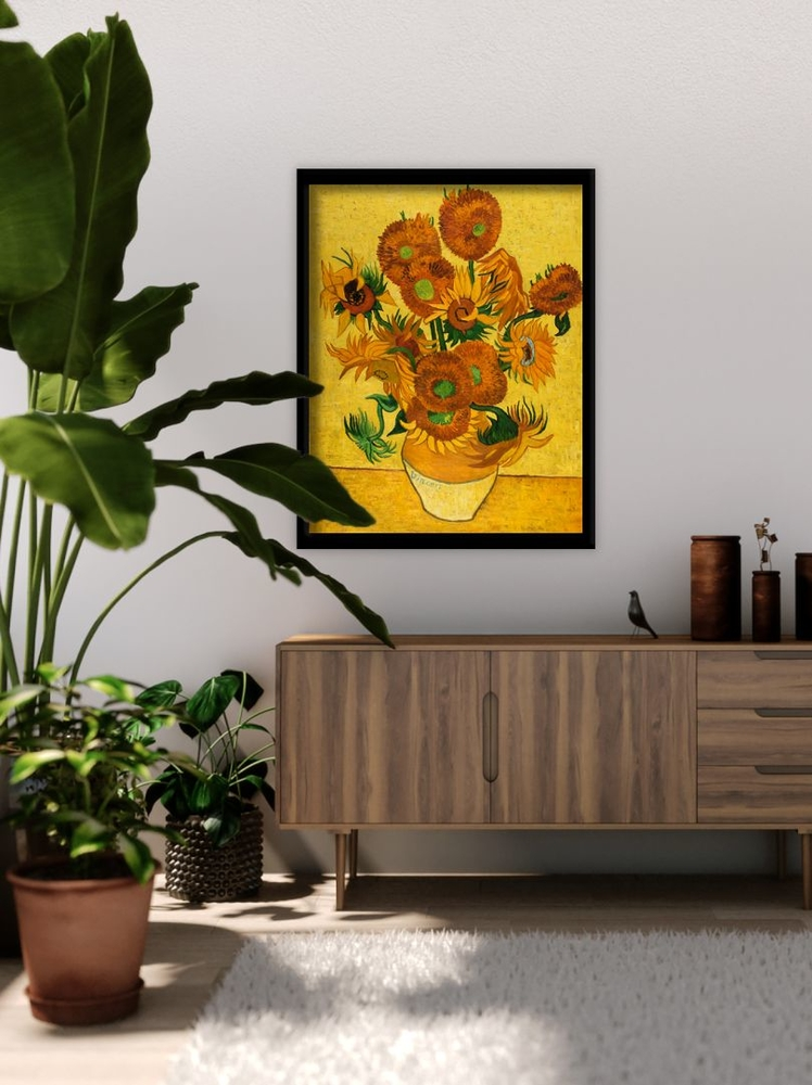 Vase With Fifteen Sunflowers Reproduction Van Gogh Studio