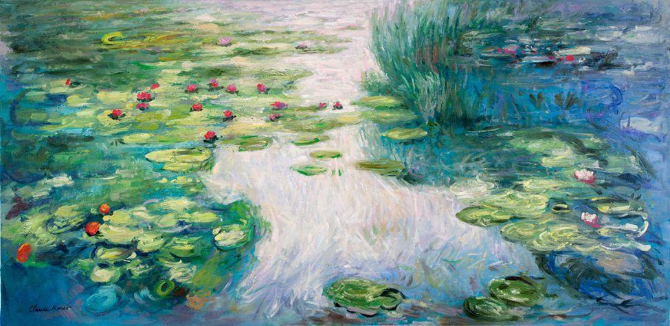 Water Lilies Honolulu, Monet reproduction