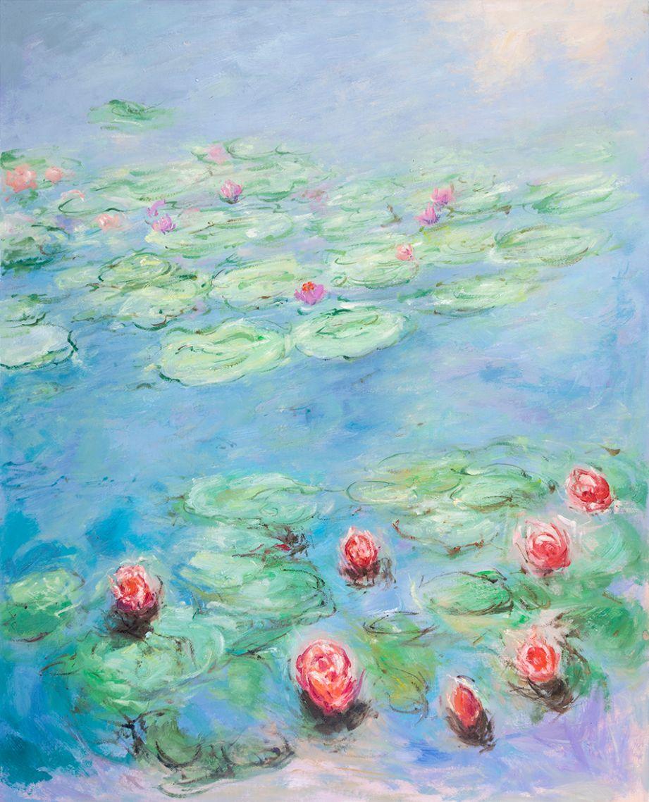 Water Lilies San Francisco, Monet reproduction