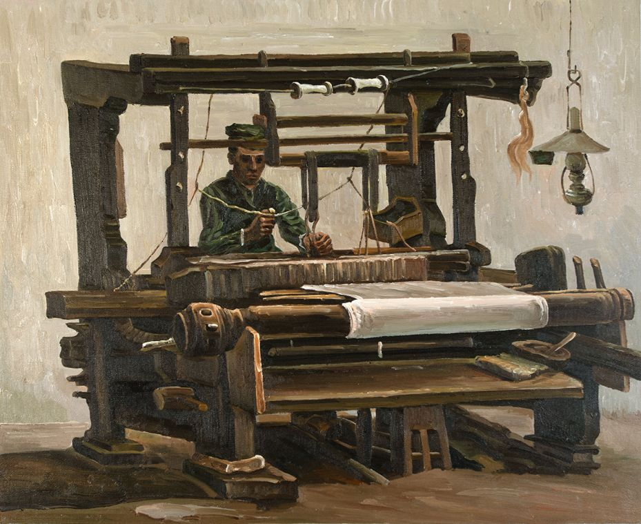 Weaver, Seen from the Front Van Gogh Reproduction