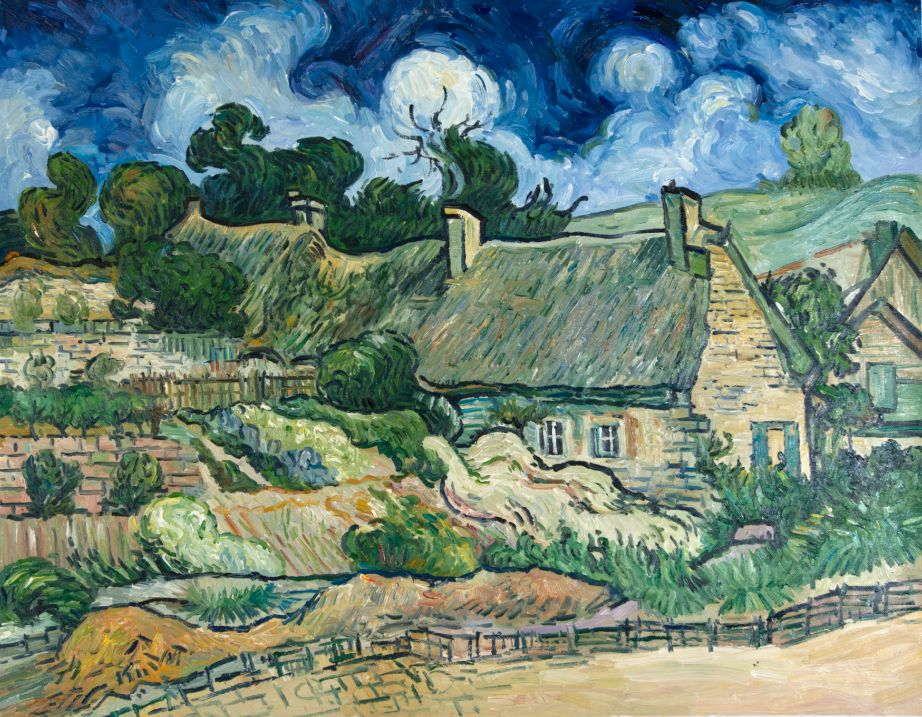 What did Van Gogh write about thatched cottages