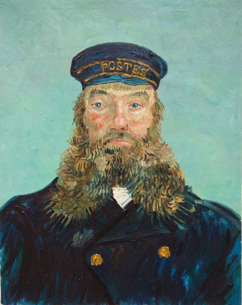 Why was Van Gogh so happy with his friend Postman Joseph Roulin?