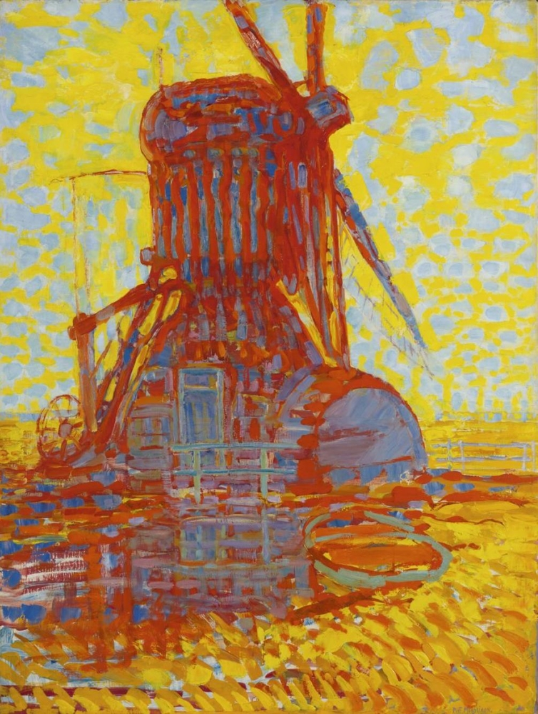 Windmill in Sunlight Mondrian reproduction
