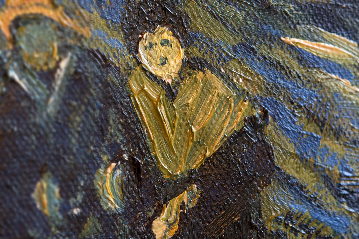 Van Gogh reproduction Starry Night over the Rhone detail