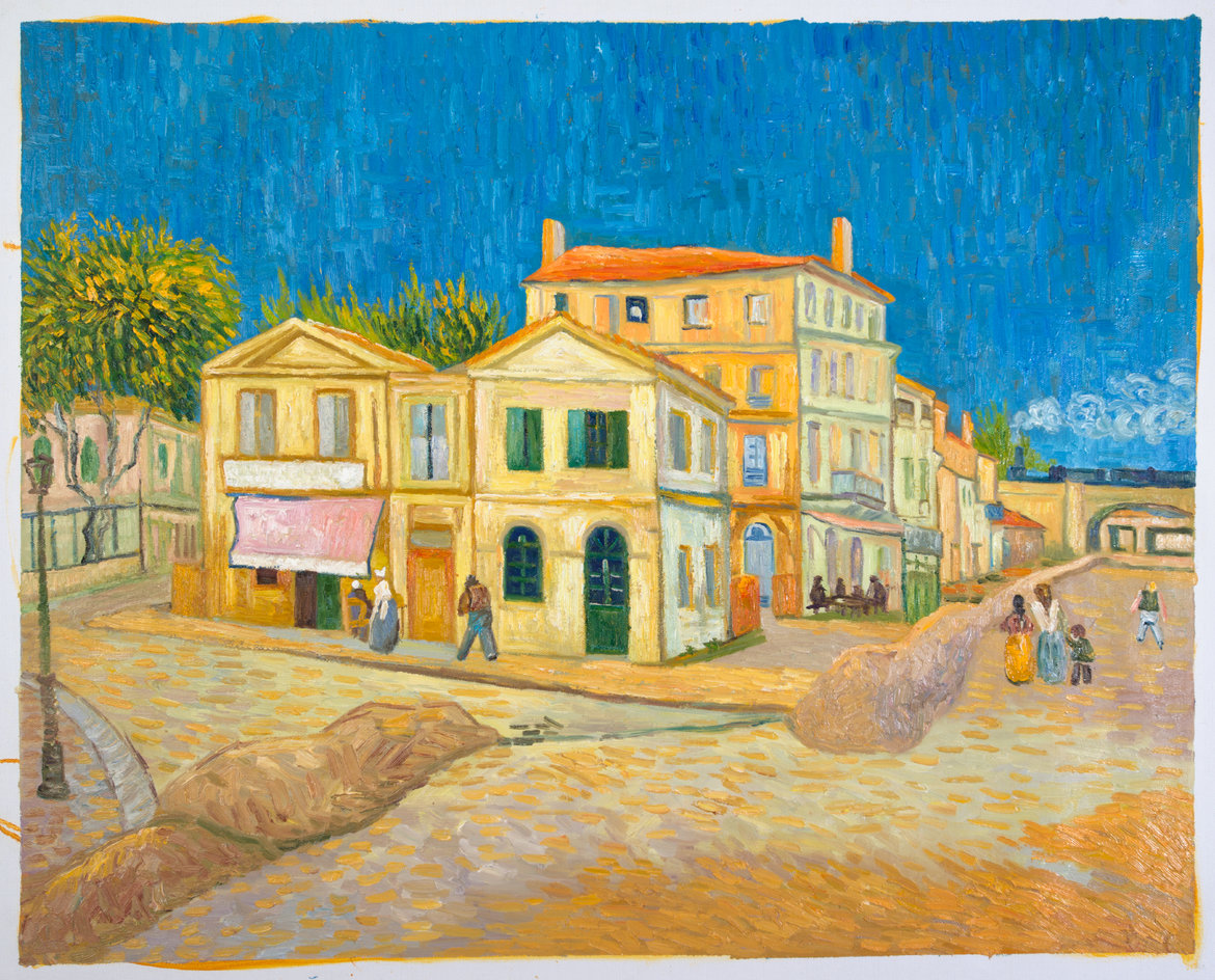 The yellow house oil painting reproduction van gogh studio for Oil paintings for the home