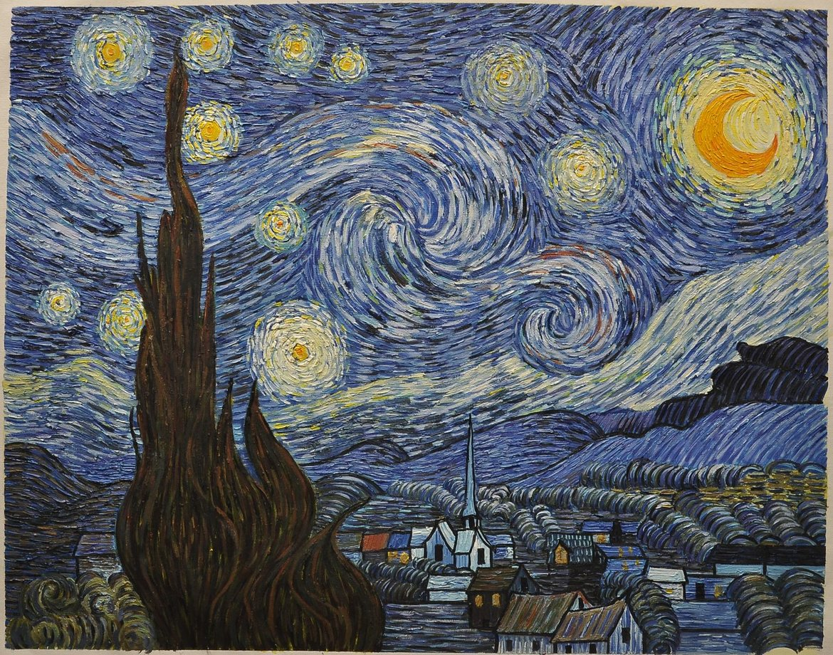 Hand-painted reproduction Starry Night