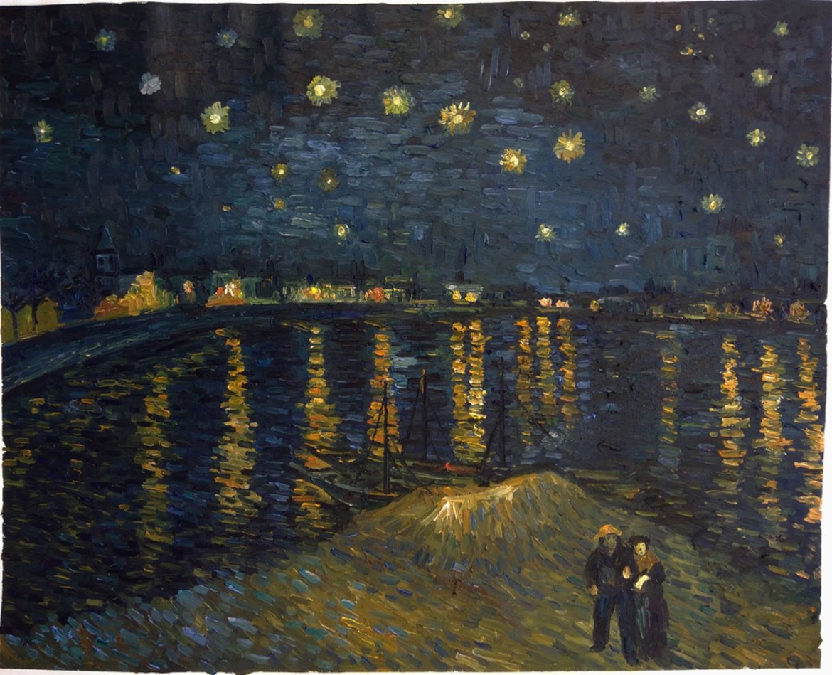 Van Gogh reproduction Starry Night over the Rhone