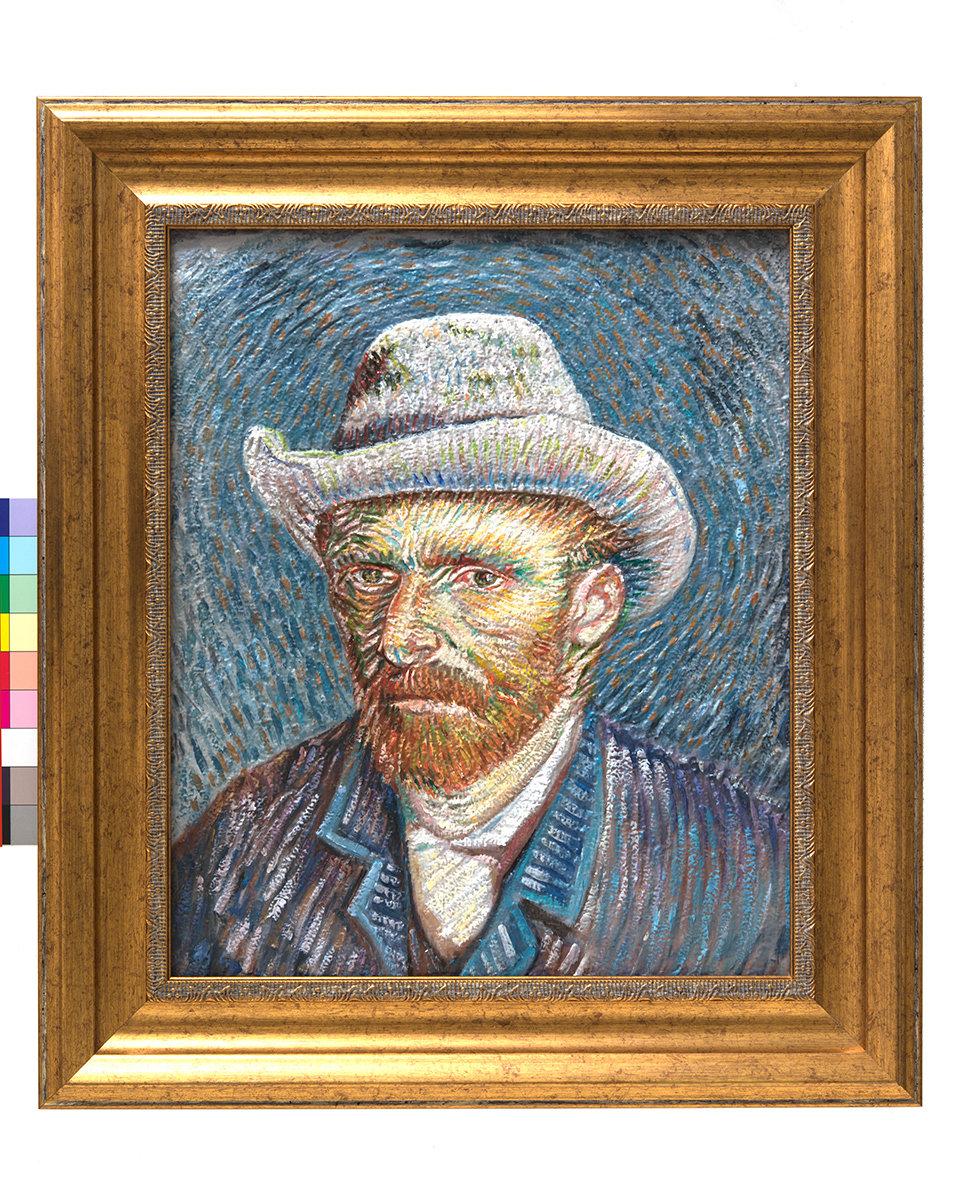 Painted 3D Print Self-Portrait with Felt Hat