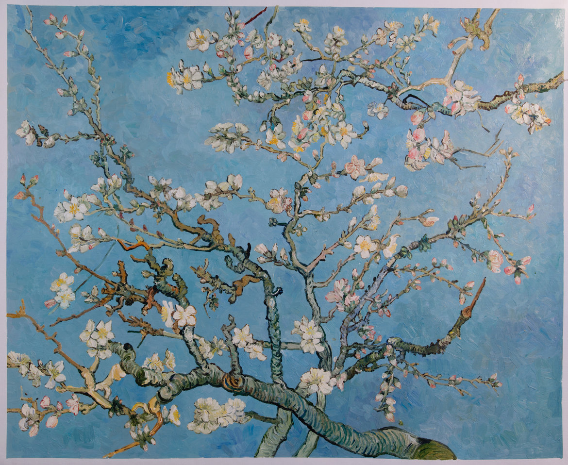 Van Gogh reproduction blossoming Almond Tree