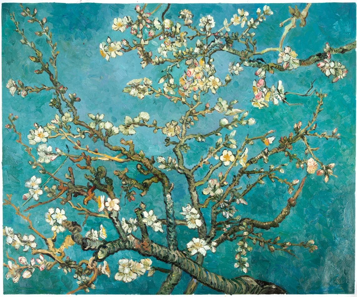 Replica blossoming Almond Tree