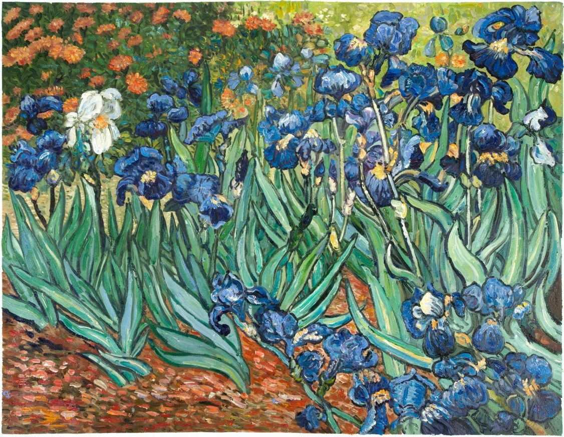 Irises van gogh reproduction hand painted van gogh studio van gogh reproduction irises reviewsmspy