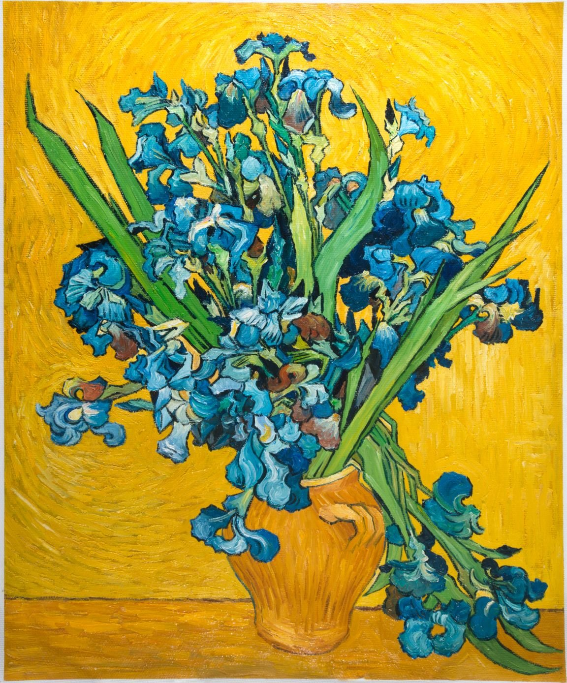 Vase with irises against a yellow background van gogh studio van gogh reproduction vase with irises with a yellow background reviewsmspy