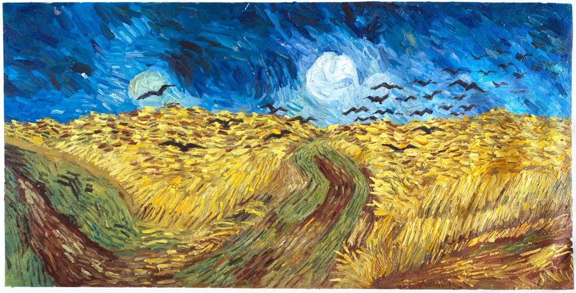 Replica Wheat Field with Crows