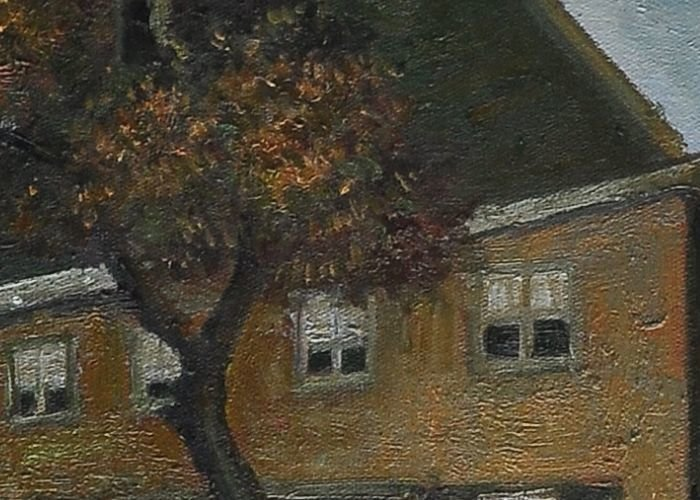 Reproduction The Vicarage at Nuenen detail