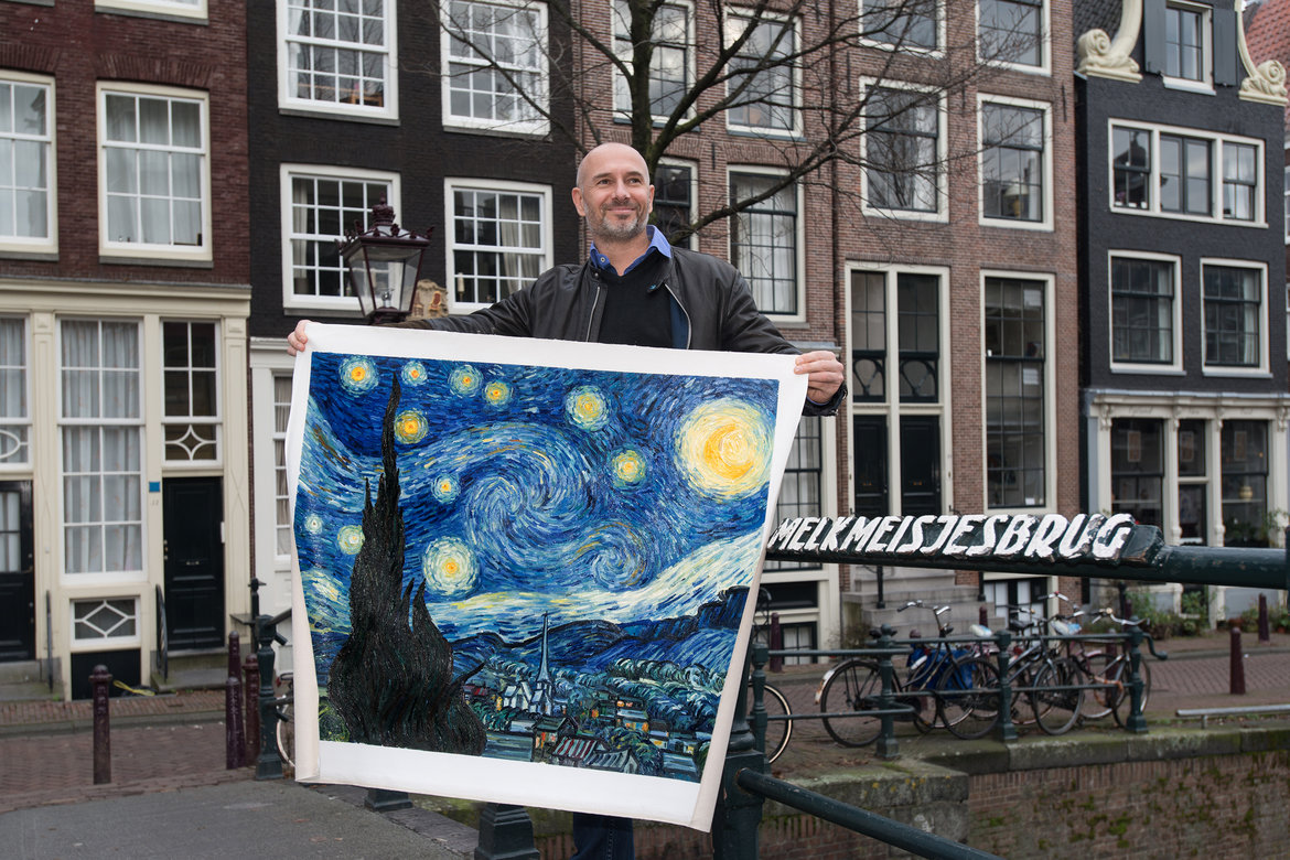 Reproduction Starry Night in Amsterdam