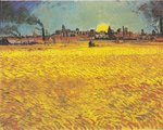 Van Gogh Reproduction Sunset: Wheat Fields Near Arles