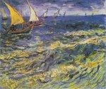 Seascape at Saintes-Maries Van Gogh reproduction