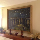 Starry Night over the Rhone Van Gogh Reproduction, hand-painted in oil on canvas_